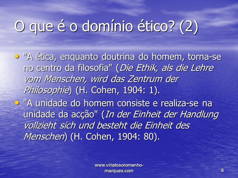 O que é o domínio ético (2)