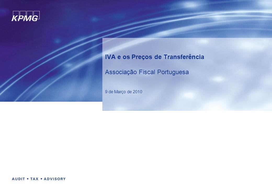 IVA e os Preços de Transferência Associação Fiscal Portuguesa