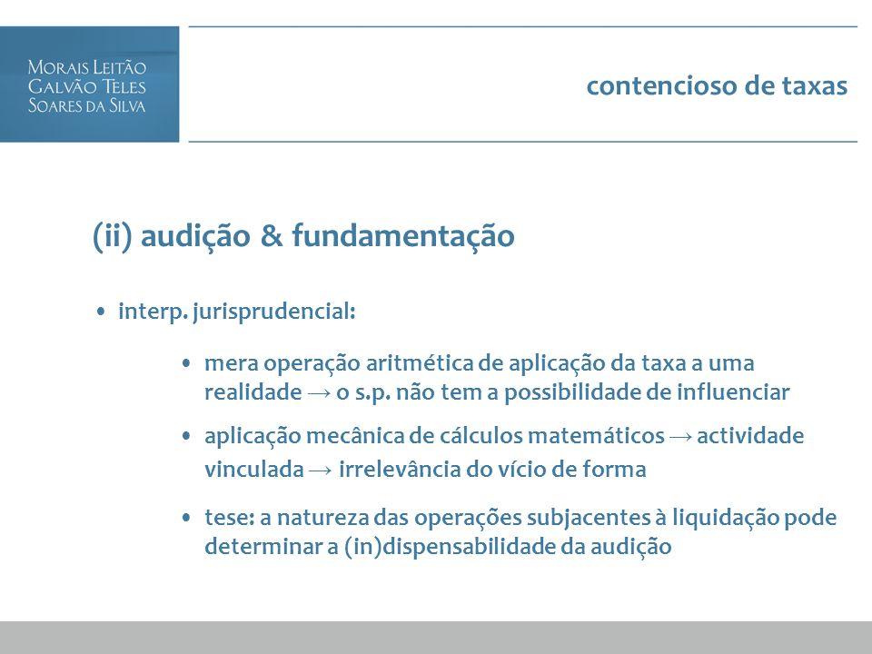 (ii) audição & fundamentação