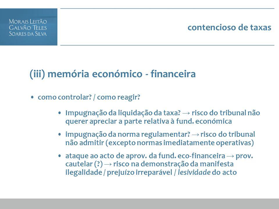 (iii) memória económico - financeira