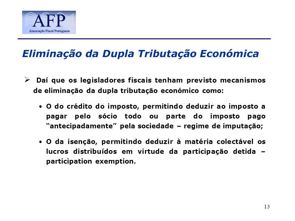 Eliminação da Dupla Tributação Económica