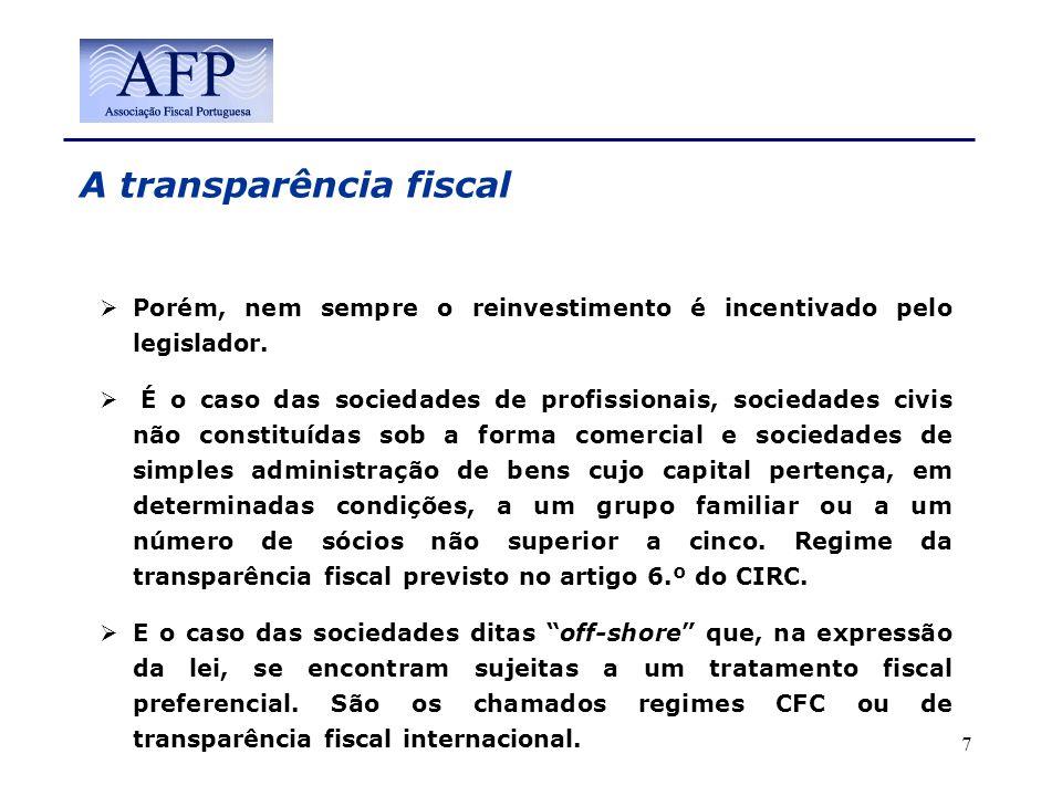 A transparência fiscal