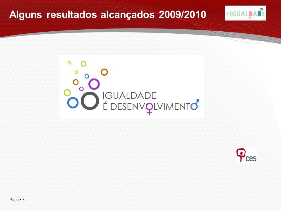 Alguns resultados alcançados 2009/2010