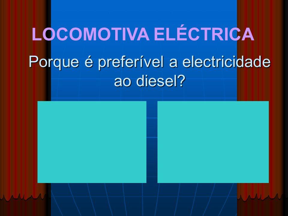 Porque é preferível a electricidade ao diesel