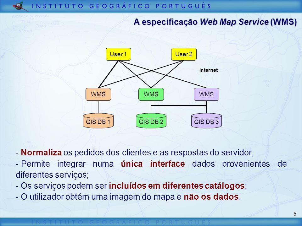 A especificação Web Map Service (WMS)