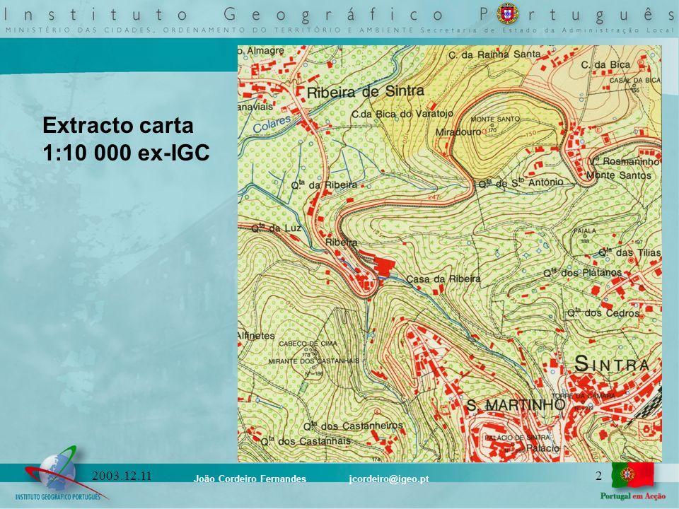 Extracto carta 1:10 000 ex-IGC