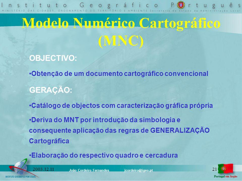 Modelo Numérico Cartográfico (MNC)