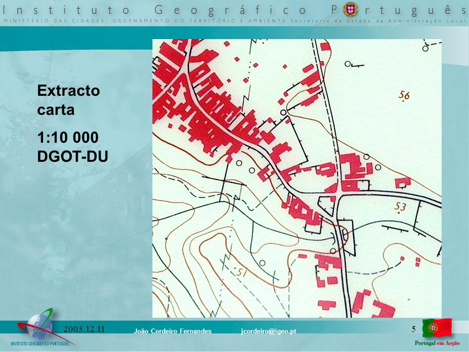 Extracto carta 1:10 000 DGOT-DU 2003.12.11
