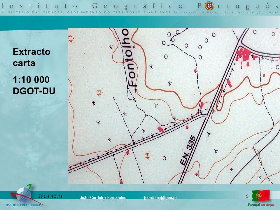 Extracto carta 1:10 000 DGOT-DU 2003.12.11 1 -Limite de País