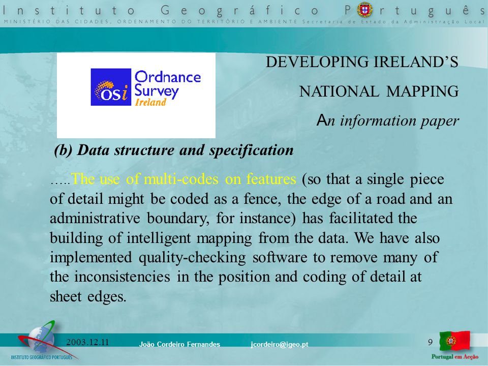 (b) Data structure and specification
