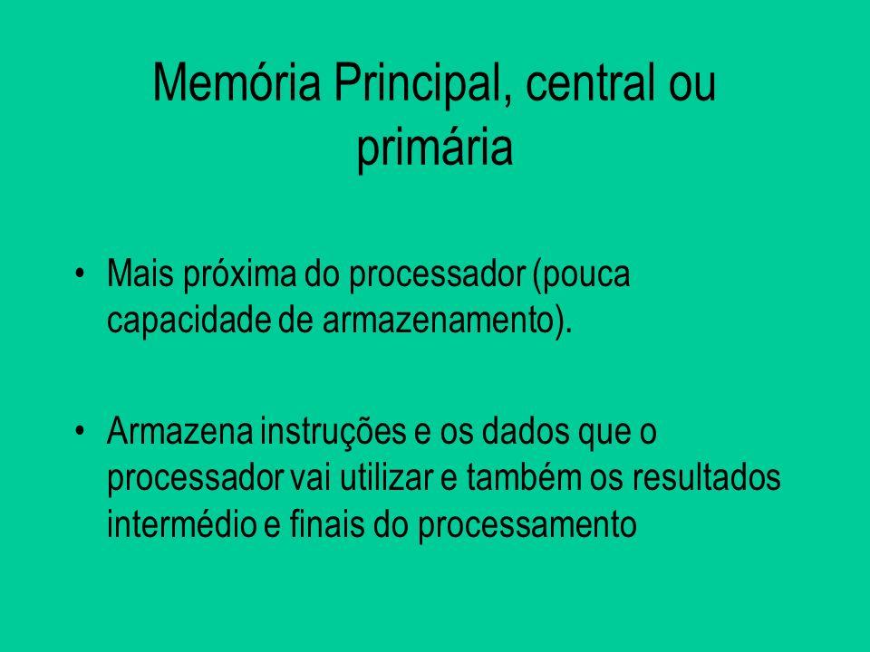 Memória Principal, central ou primária