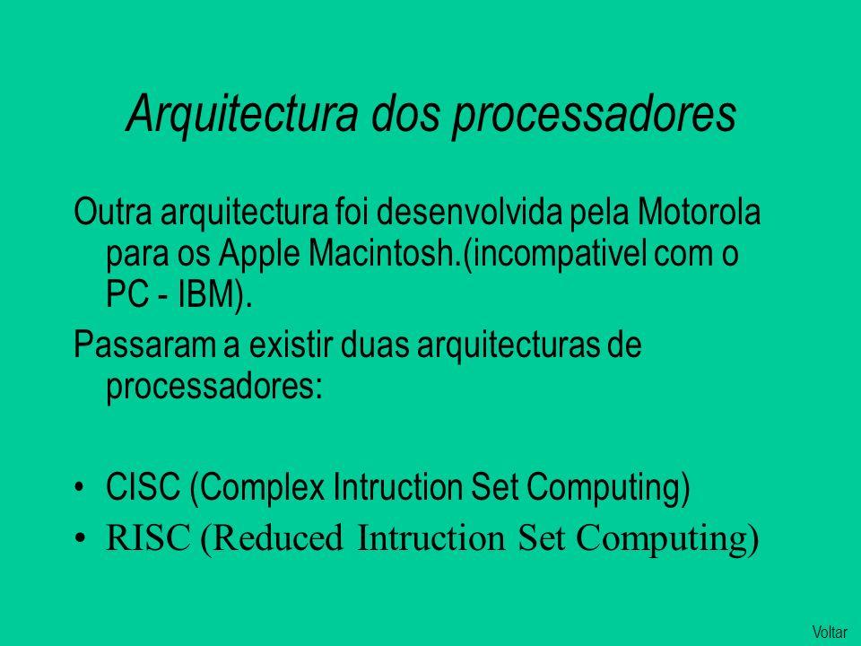 Arquitectura dos processadores