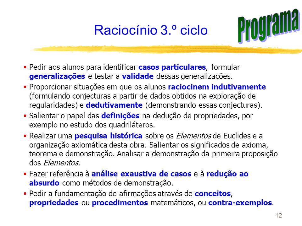 Programa Raciocínio 3.º ciclo