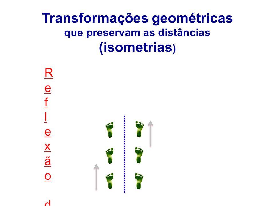 Transformações geométricas que preservam as distâncias (isometrias)