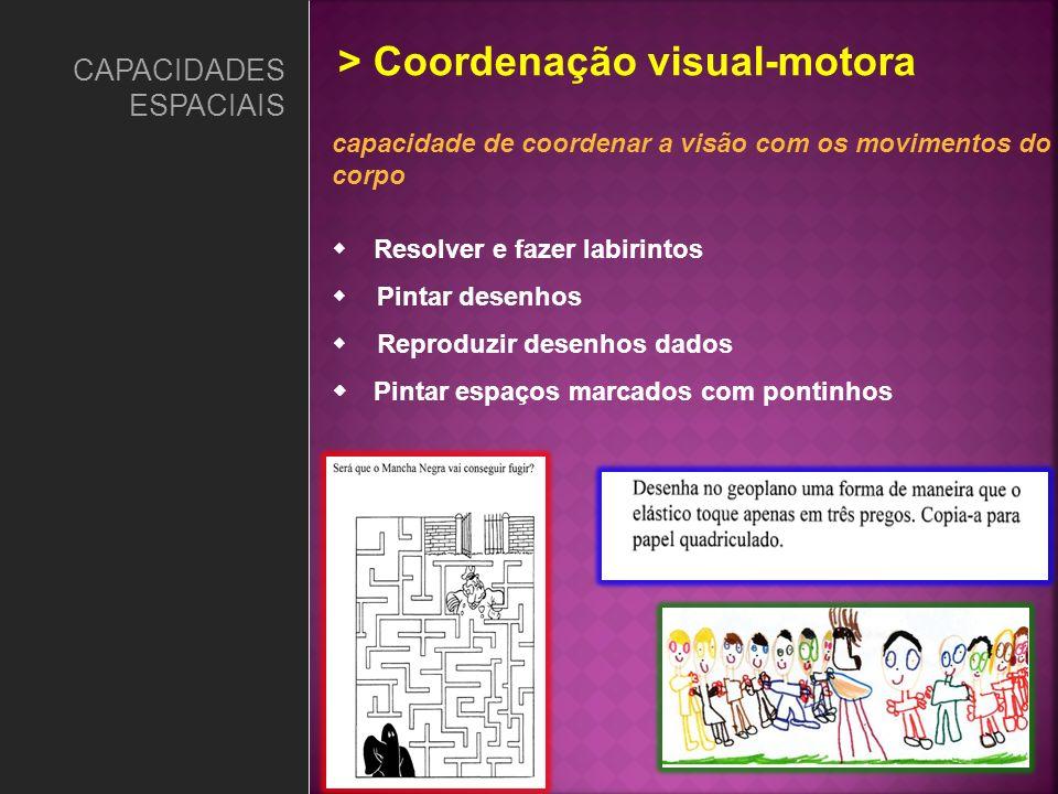 > Coordenação visual-motora