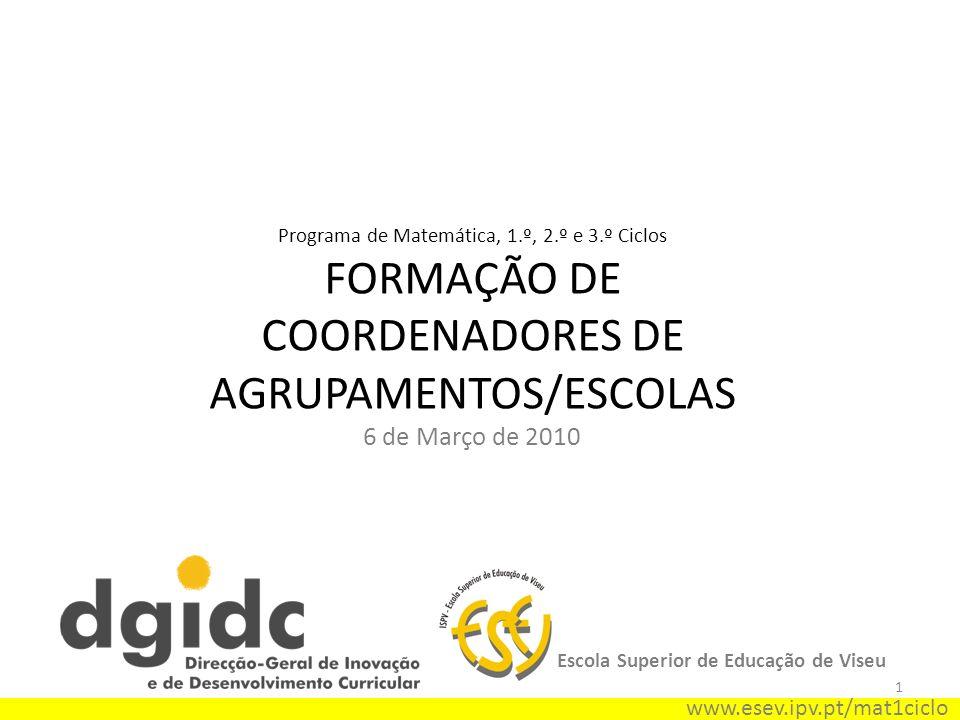 FORMAÇÃO DE COORDENADORES DE AGRUPAMENTOS/ESCOLAS
