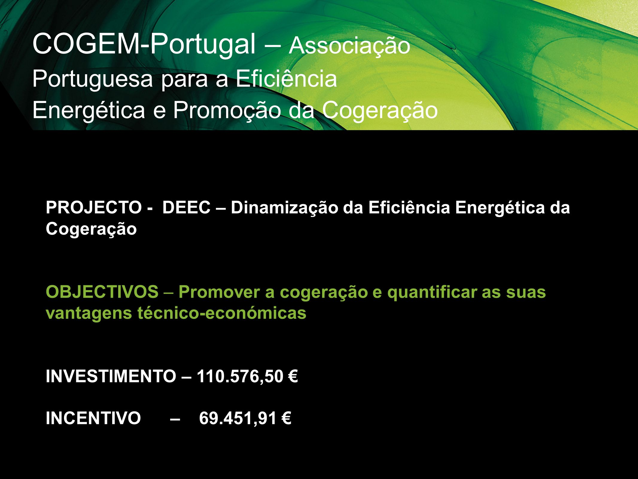 COGEM-Portugal – Associação Portuguesa para a Eficiência Energética e Promoção da Cogeração