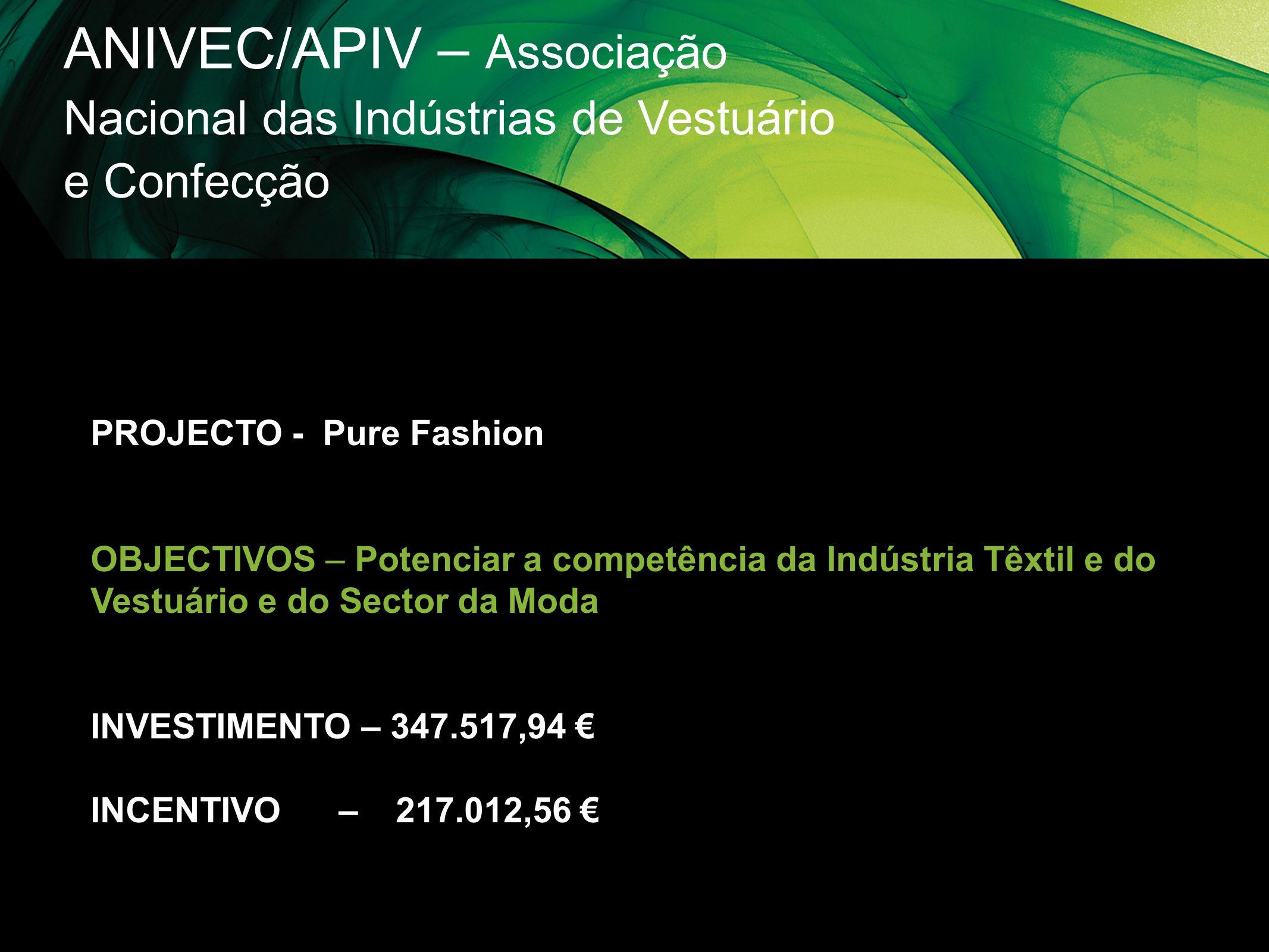 ANIVEC/APIV – Associação Nacional das Indústrias de Vestuário e Confecção