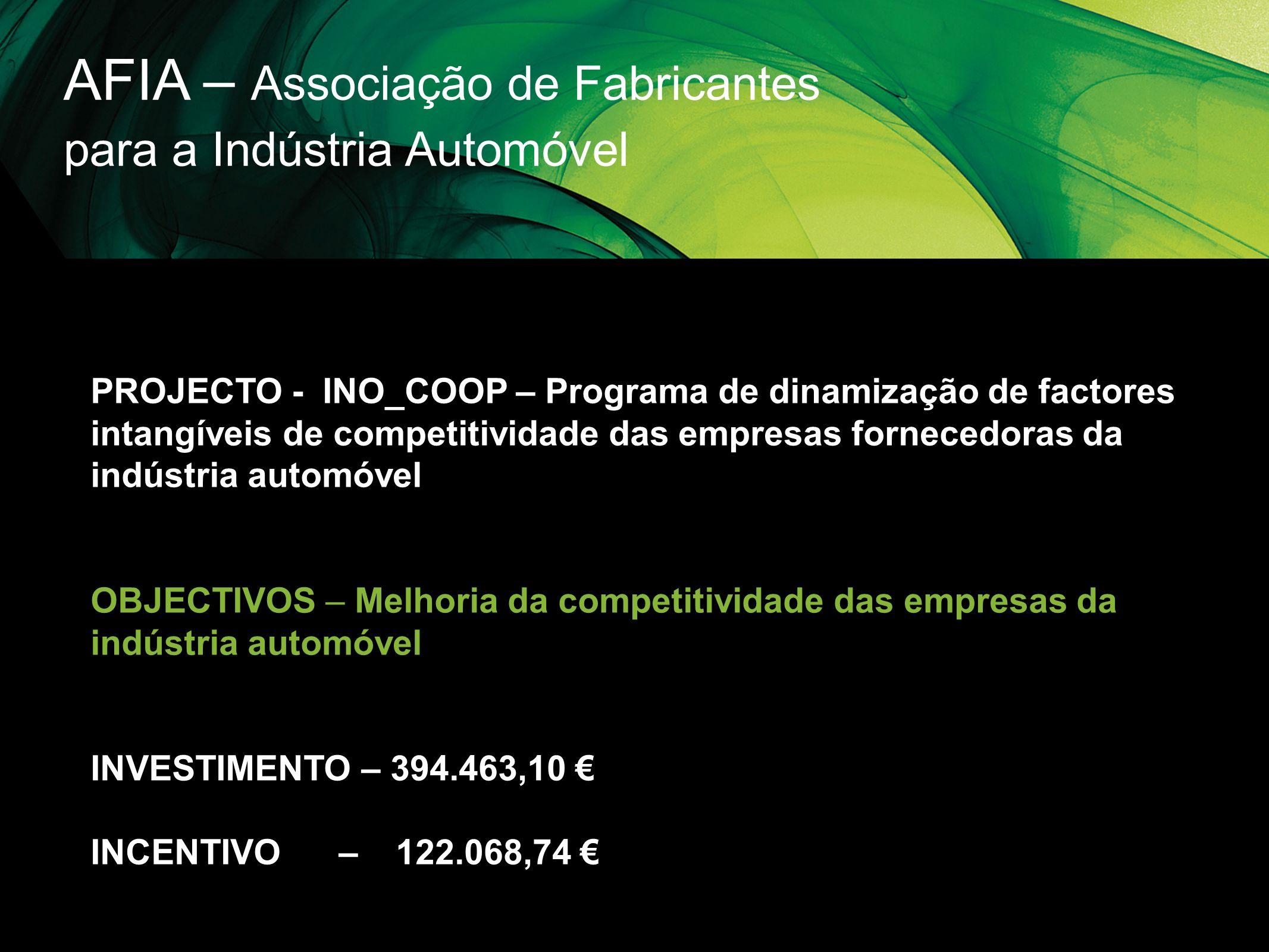 AFIA – Associação de Fabricantes para a Indústria Automóvel