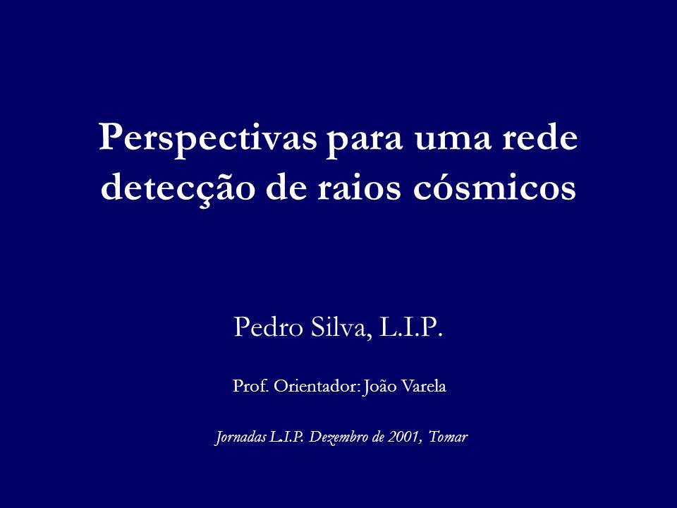 Perspectivas para uma rede detecção de raios cósmicos