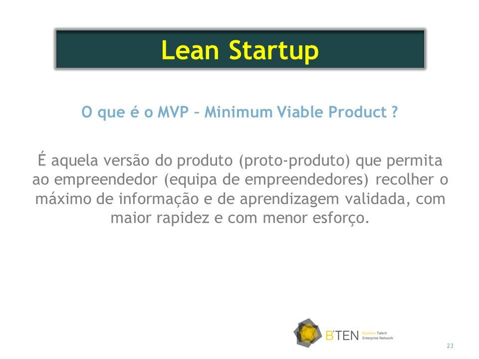 O que é o MVP – Minimum Viable Product