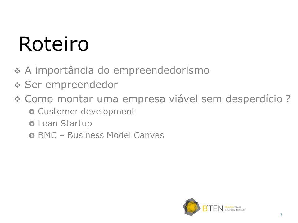 Roteiro A importância do empreendedorismo Ser empreendedor