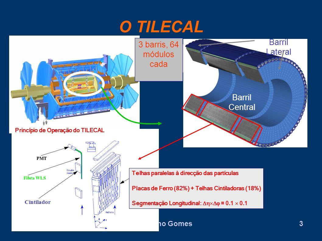O Calorímetro Hadrónico TILECAL está dividido em 3 regiões: