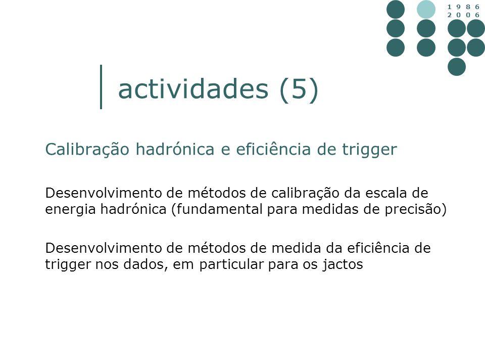 actividades (5) Calibração hadrónica e eficiência de trigger