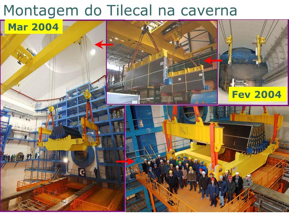Montagem do Tilecal na caverna
