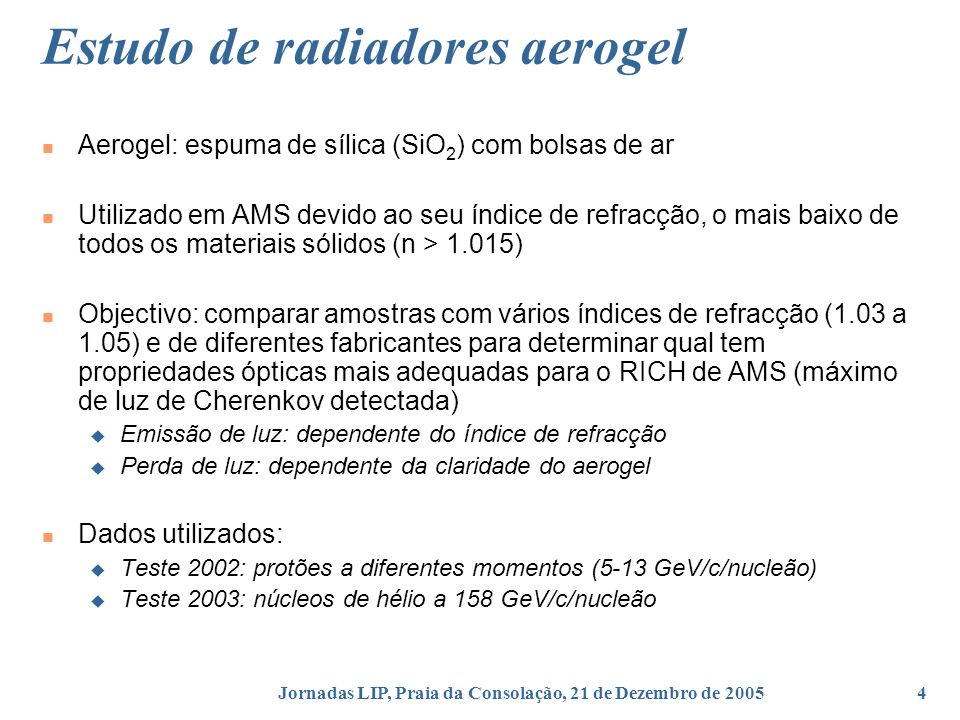 Estudo de radiadores aerogel