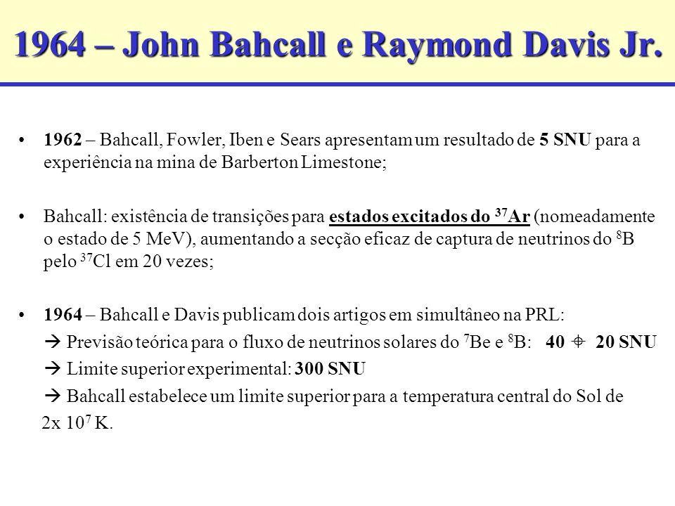 1964 – John Bahcall e Raymond Davis Jr.