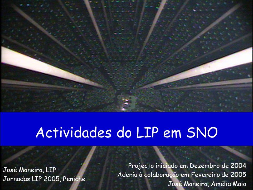 Actividades do LIP em SNO