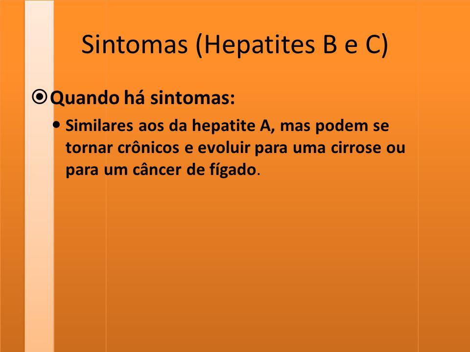 Sintomas (Hepatites B e C)
