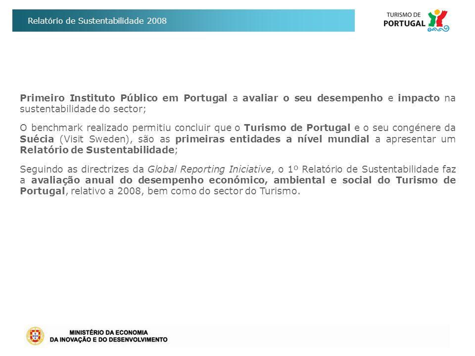 Primeiro Instituto Público em Portugal a avaliar o seu desempenho e impacto na sustentabilidade do sector;