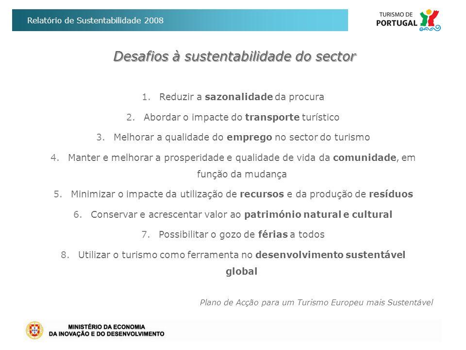 Desafios à sustentabilidade do sector