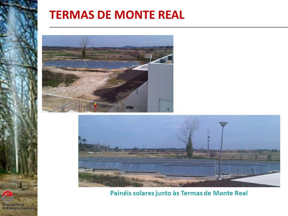 Painéis solares junto às Termas de Monte Real