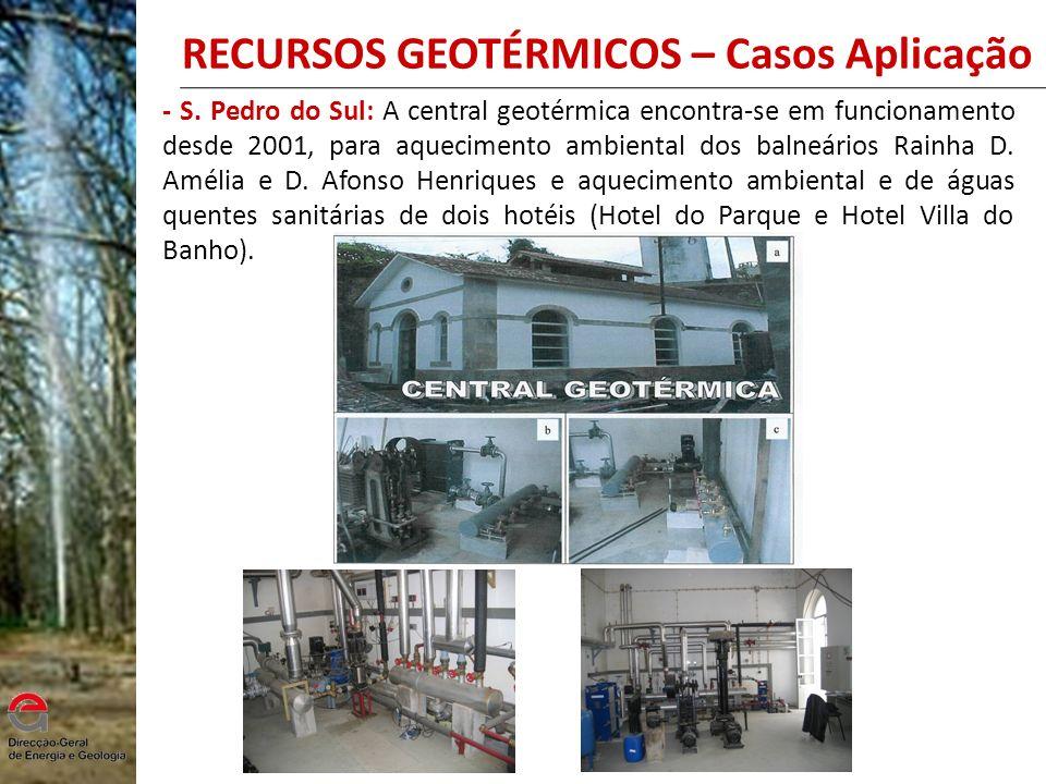 RECURSOS GEOTÉRMICOS – Casos Aplicação