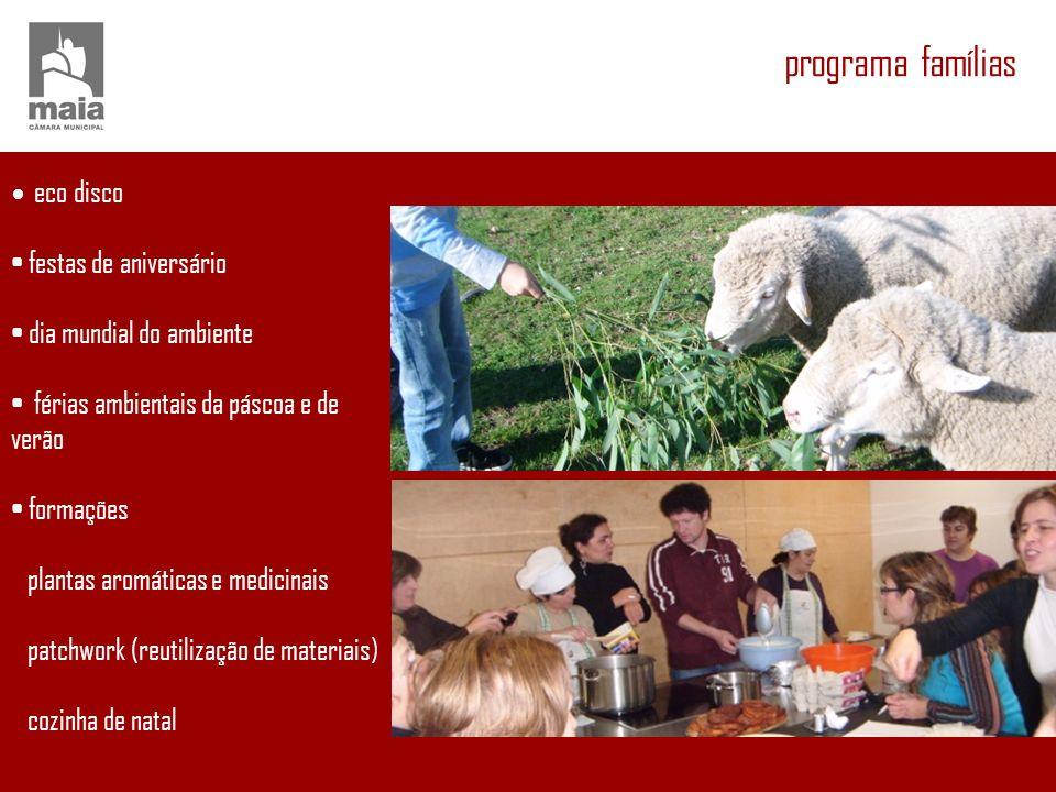 programa famílias festas de aniversário dia mundial do ambiente