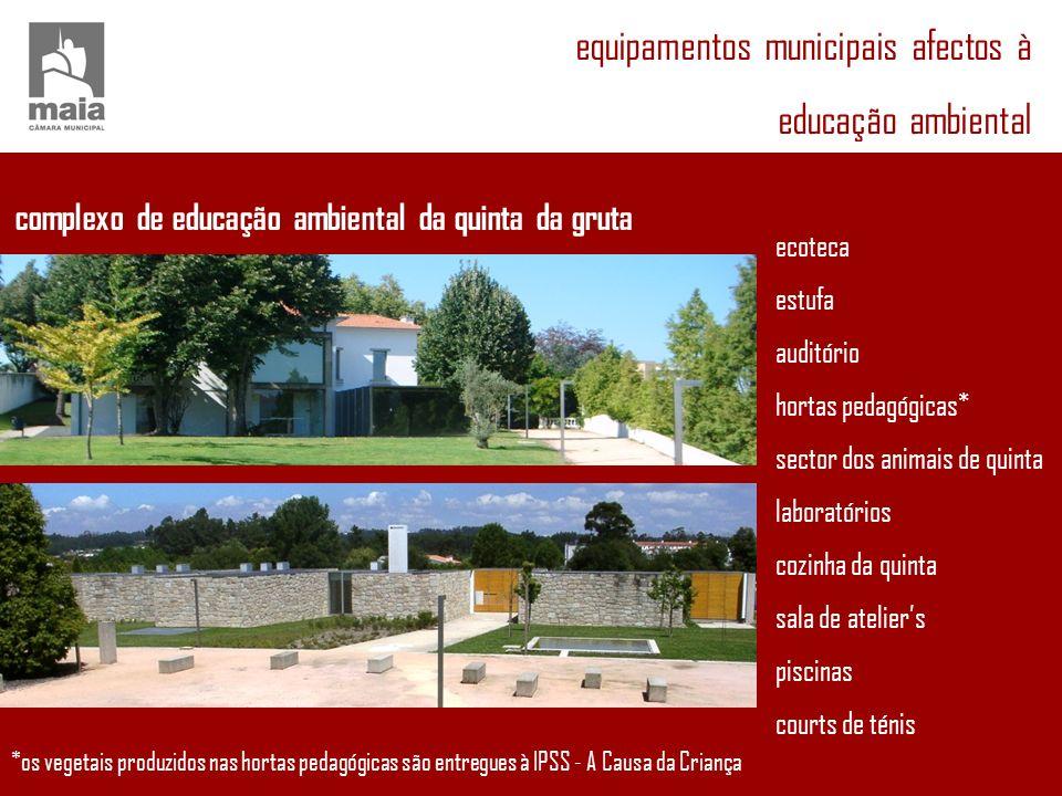 equipamentos municipais afectos à educação ambiental