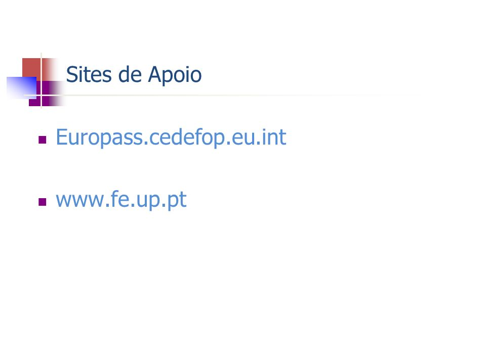Sites de Apoio Europass.cedefop.eu.int