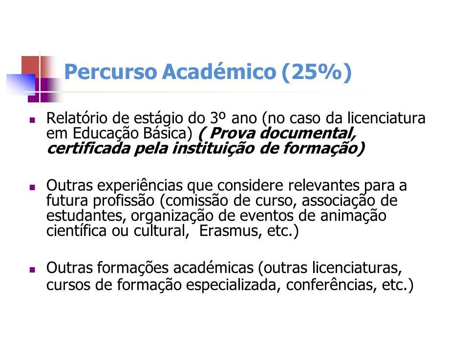 Percurso Académico (25%)