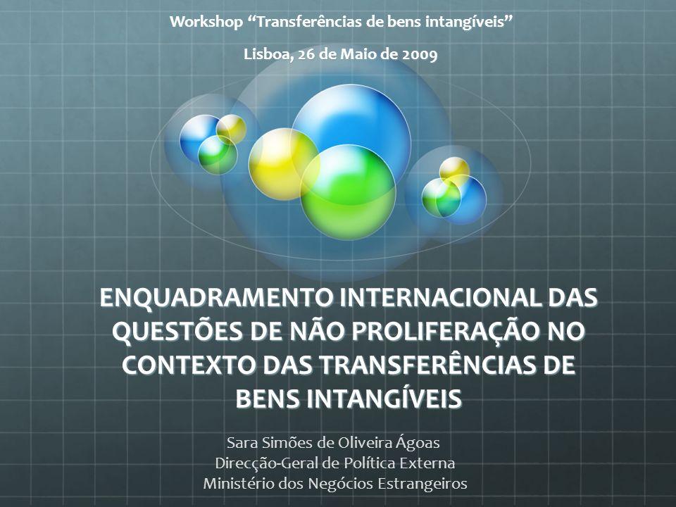 Workshop Transferências de bens intangíveis