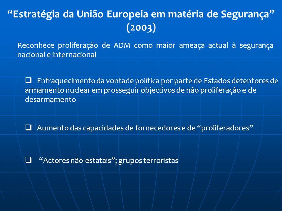 Estratégia da União Europeia em matéria de Segurança (2003)