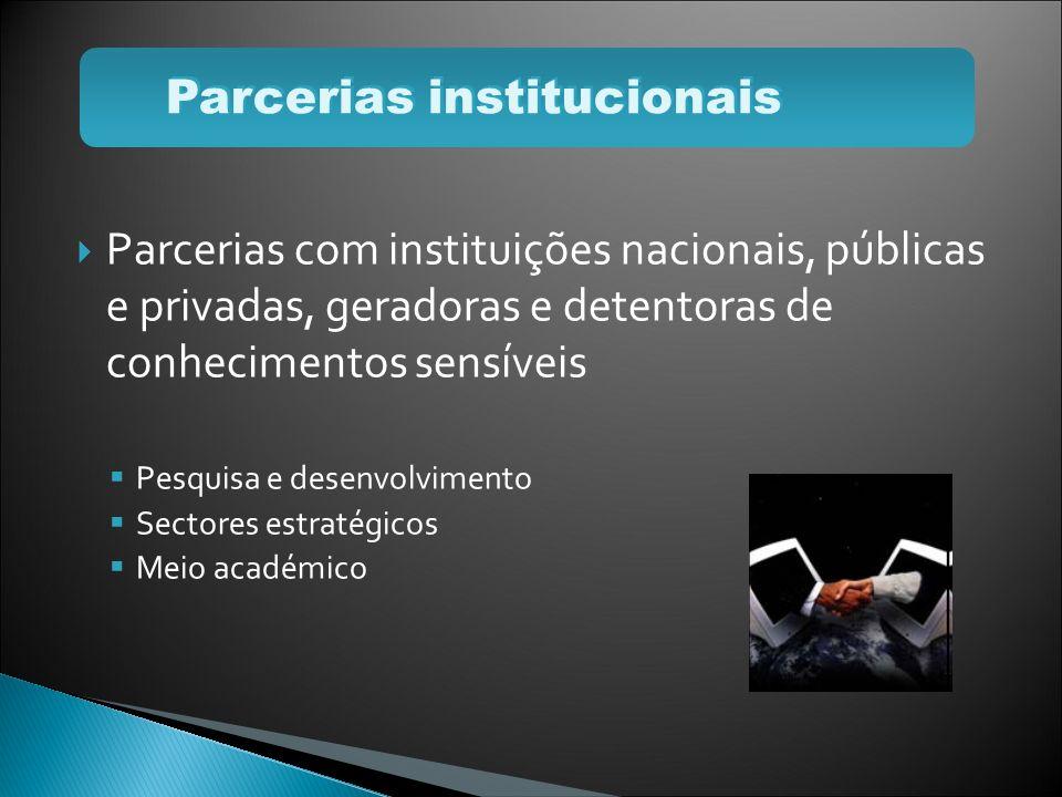 Parcerias institucionais