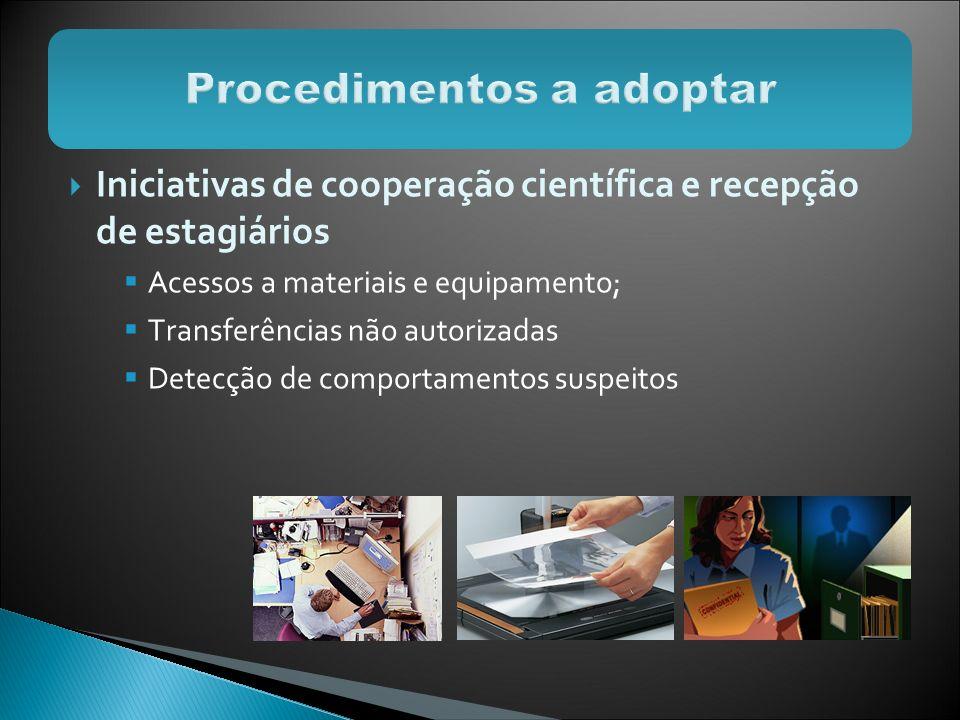 Procedimentos a adoptar