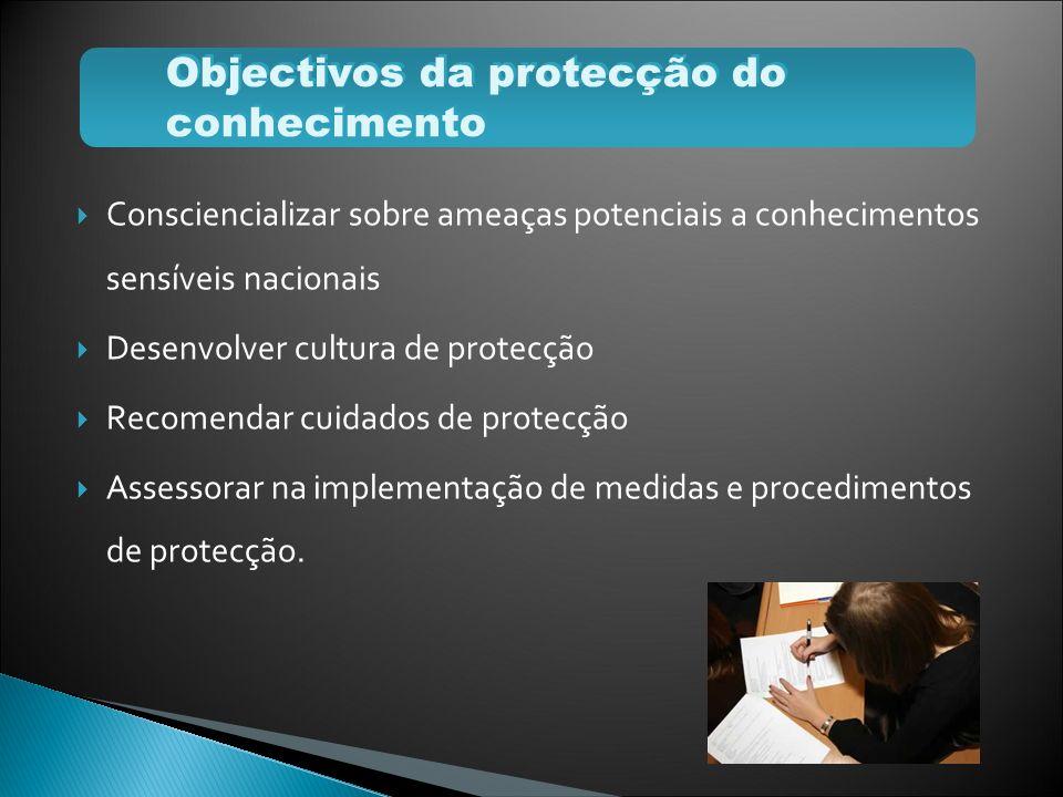 Objectivos da protecção do conhecimento
