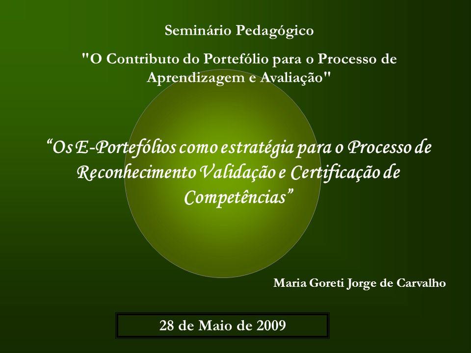 Seminário Pedagógico O Contributo do Portefólio para o Processo de Aprendizagem e Avaliação