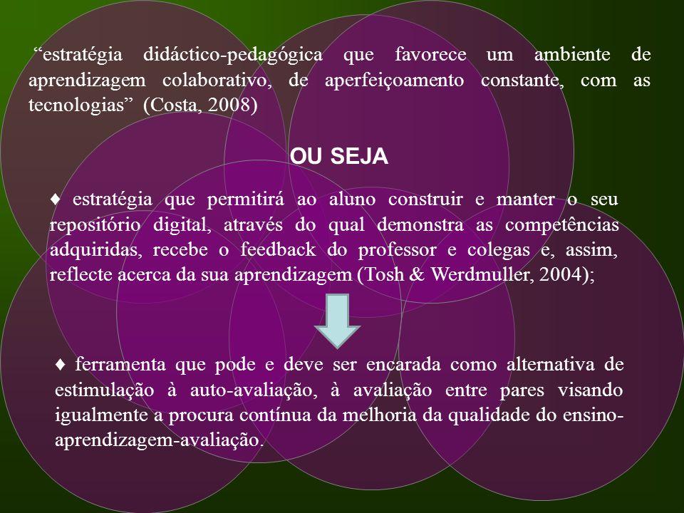 estratégia didáctico-pedagógica que favorece um ambiente de aprendizagem colaborativo, de aperfeiçoamento constante, com as tecnologias (Costa, 2008)
