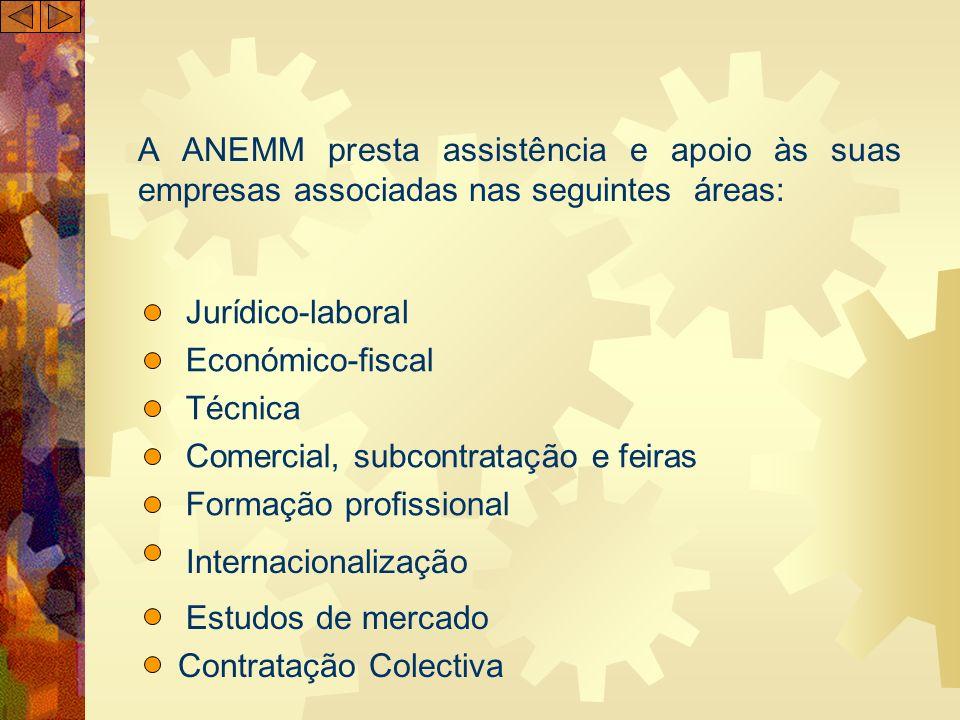 A ANEMM presta assistência e apoio às suas empresas associadas nas seguintes áreas: