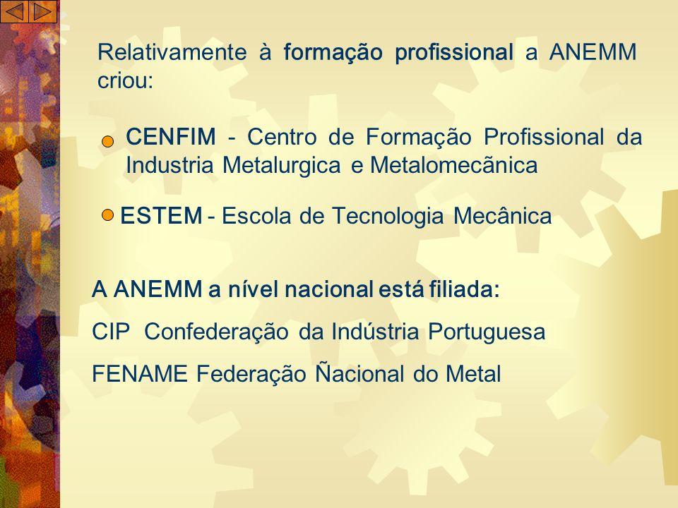 Relativamente à formação profissional a ANEMM criou: